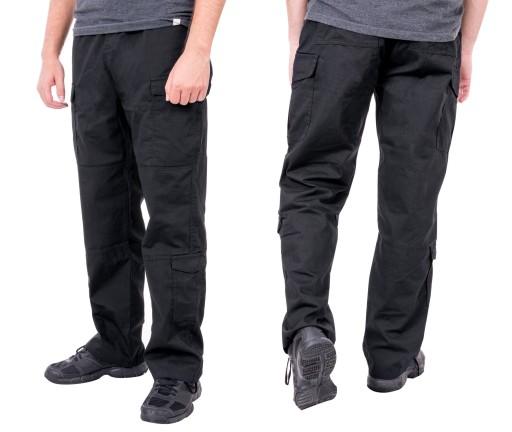 Spodnie Męskie BojÓwki Wojskowe 8889 r 102cm czarn 6945295384 Odzież Męska Spodnie QB QQETQB-9