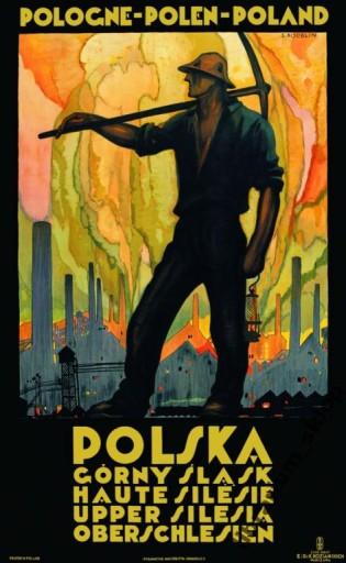 Plakat Górny śląsk Katowice Polskie Art Deco