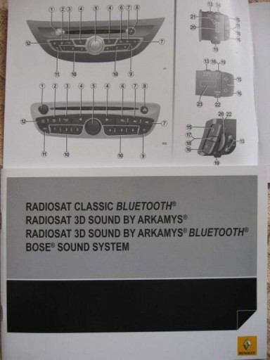 RENAULT instrukcja obsługi radia radio CD telefon