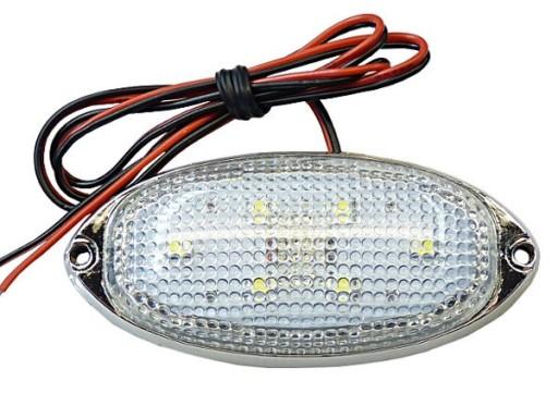 LED LEMPUTE LED ZIBINTAS (LEMPOS-FAROS) 6 SMD GABARITINIS 12V 24V