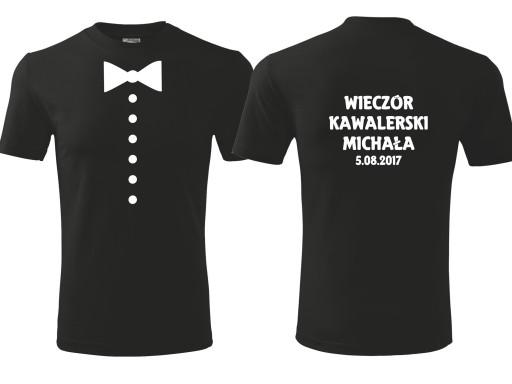 2d2f75902743 T-shirt koszulka nadruk WIECZÓR KAWALERSKI L 5641923466 - Allegro.pl