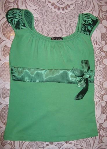 Zielona śliczna bluzka prawie jak ORSAY, MOHITO.