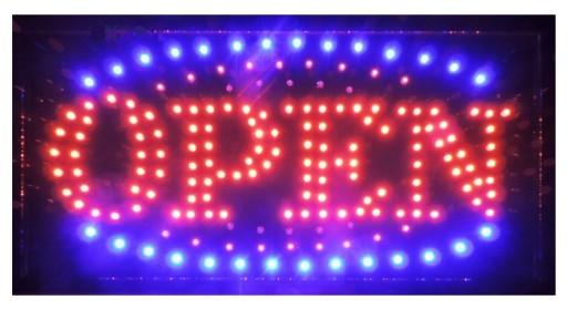 Zaktualizowano SZYLD NEON TABLICA ŚWIETLNA LED REKLAMA OPEN 7558342739 - Allegro.pl AU59