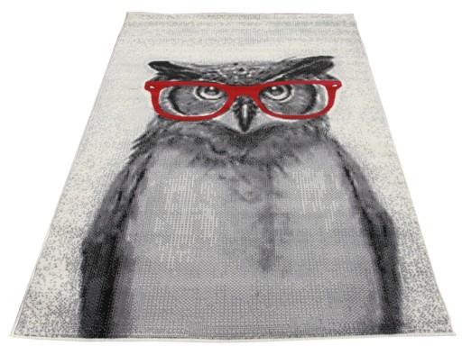 Dywany Młodzieżowe Sowa W Okularach Creme 80x150