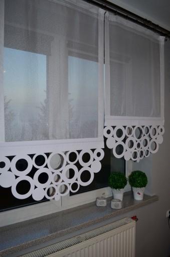 Firany Ażury Koła I Kwadrat Panel Ażur 60 Lub 70cm
