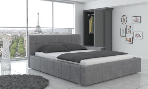 łóżko Tapicerowane Stelaż Pojemnik 180x200 Fresh