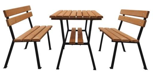 Meble Ogrodowe Drewniane Zestaw Nelia 150cm Stal 6833341550 Allegro Pl