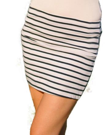 Krótka spódniczka w paski L 40