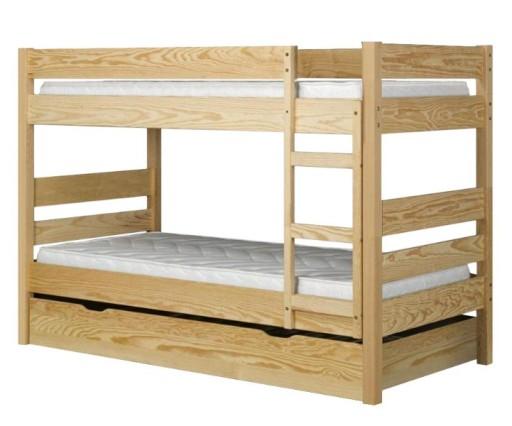 łóżko Piętrowe Hotelowematerace 200x90 Stabilne