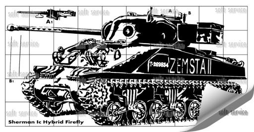 Naklejka Sherman Firefly 100x50 cm na ścianę 02