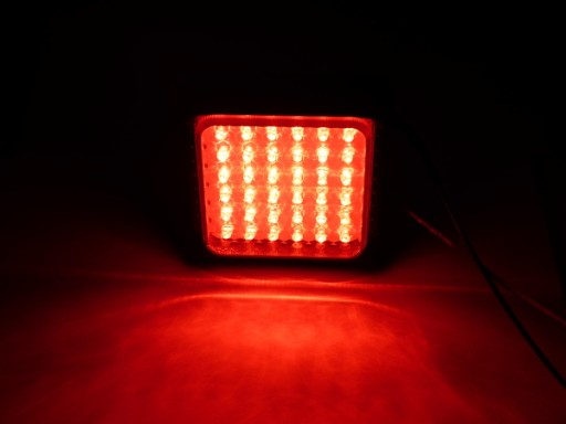 LAMPA 36 LED TYLNA STOP czerwona mocna 12V 24V RS