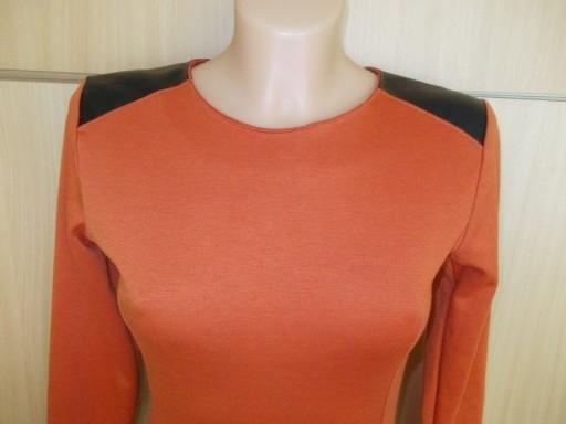 Sukienka ołówkowa skórzane wstawki zip ( 36 )