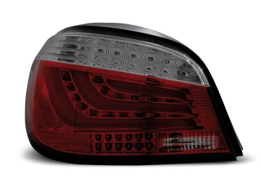 Lampy tył BMW E60 03 BLACK SMOKED LED BAR diodowe