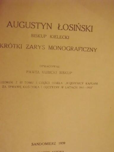 Augustyn Łosiński biskup kielecki Sandomierz 1939