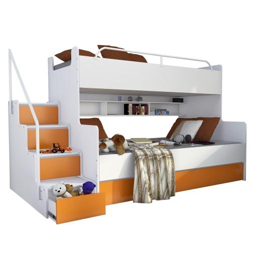 łóżko Piętrowe Magnum 3 Osobowe Stelaże