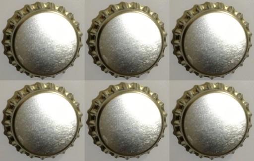 Magnesy na lodówkę kapsle 6szt srebrny neodymowe