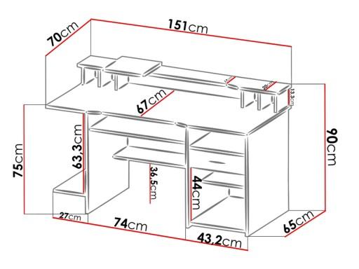 Ergonomiczne Biurko Komputerowe P4 Stolik Do Nauki 6961211620