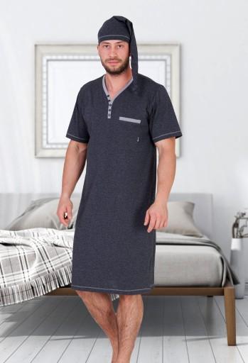 Koszula nocna męska szlafmyca Bonifacy M MAX XXL 6850465052  qsZWf