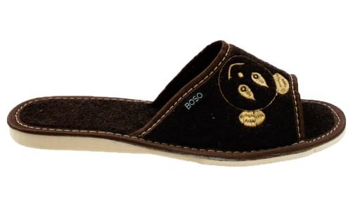ea14b5c6 Pantofle damskie kapcie BOSO 2177-1 klapki filc 41 7461861206 ...