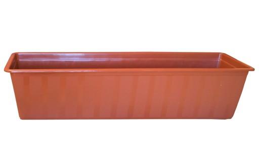 Doniczka Donica Plastikowa Balkonowa Terakota 60cm