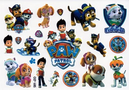 Tatuaże Zmywalne Dla Dzieci Psi Patrol 192
