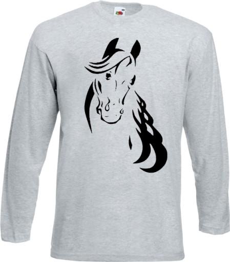 koszulka long koń z koniem konikem jeździecka XXL*