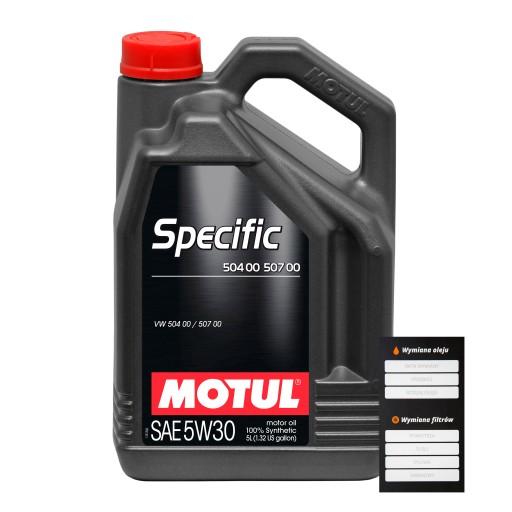 MOTUL SPECIFIC 5W30 504.00 507.00 5L FILTRY_GDANSK