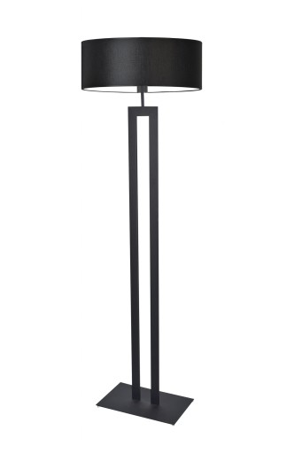 lampy stojące z dużym abażurem