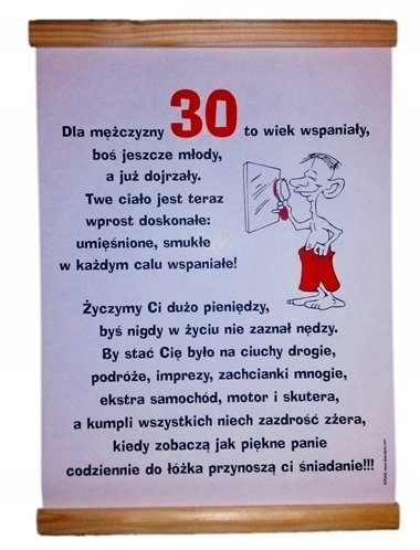 Dyplom Na 30 Urodziny Dla Faceta 30stka 30 Stka