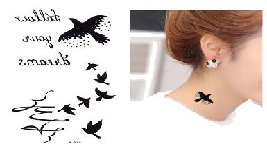 Tatuaż Zmywalny Ptaszki Follow Your Dreams Cytat 7319612268 Allegropl