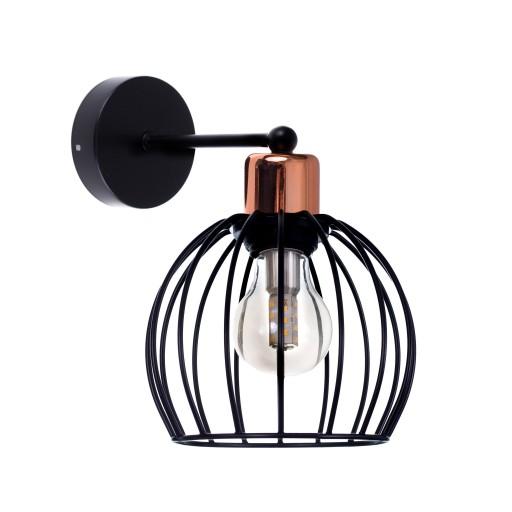 Fantastyczny Lampa kinkiet LED Styl RETRO1 czarny/miedź 7507012032 - Allegro.pl LB91