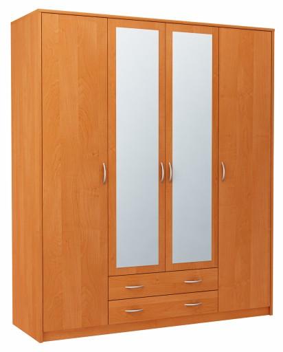 Modernistyczne Szafa szafka 4D2S OLCHA czterodrzwiowa z lustrami 6886983849 BM86