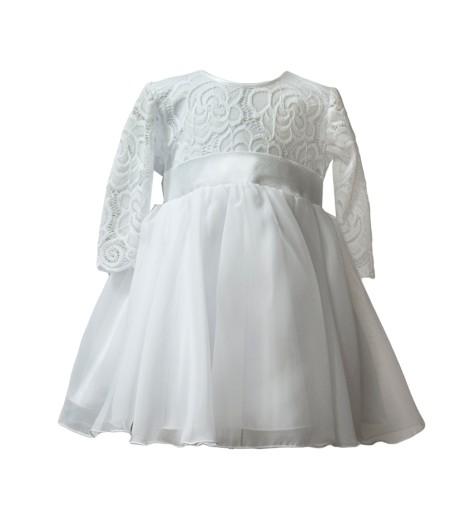 e2322c0cf1 Sukienka biała koronka wesele chrzest wizytowa 152 (7350946163 ...