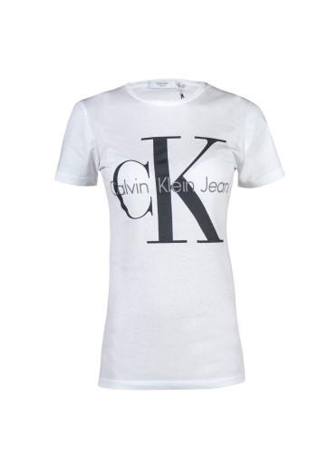 Calvin Klein Ck T Shirt Bialy Damski Logo L 7525822630 Allegro Pl