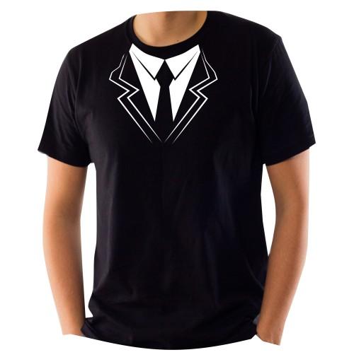 ff05948a0016a6 Koszulka z nadrukiem KRAWAT krawatem MUCHA L 7530272589 - Allegro.pl