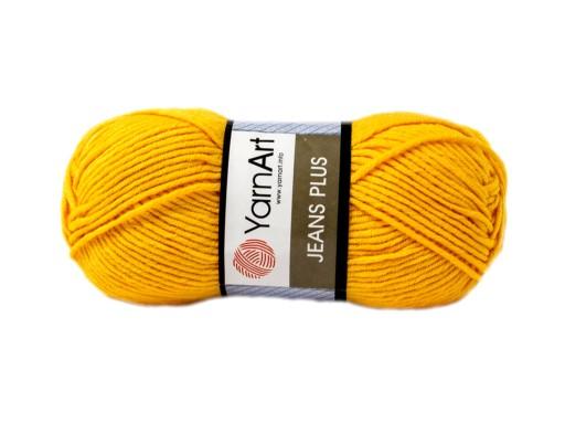 Wloczka Yarnart Jeans Plus Kolor Zolty 35 7097023175 Allegro Pl