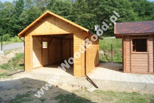 Garaż Drewniany 35x55 Jednostanowiskowy Carport 6714629457