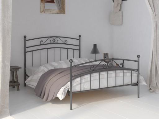 łóżko Metalowe Do Sypialni 80x180 Wzór 36 Stelaż