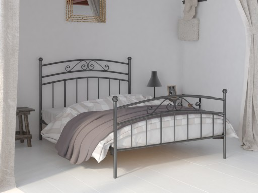 łóżko Metalowe Do Sypialni 90x180 Wzór 36 Stelaż
