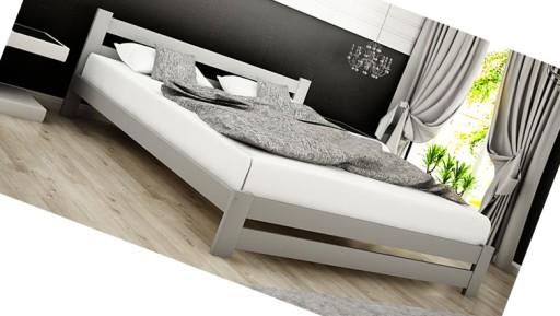 Duże łóżko Małżeńskie Szare Popiel 180x200