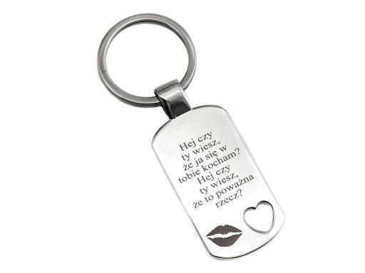 Brelok serce do kluczy na prezent + Grawer