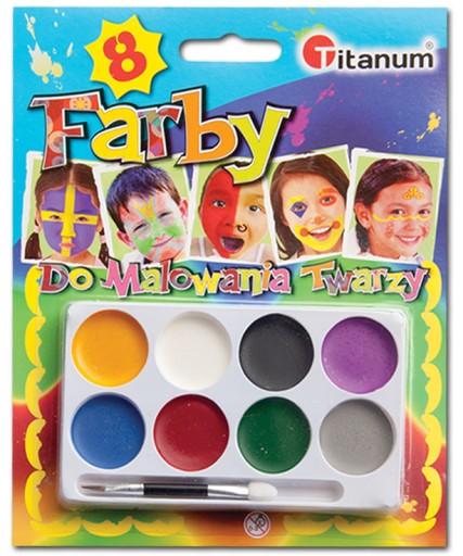 Farby Do Malowania Twarzy Ciala Farba Zestaw 8kol 6969532952 Allegro Pl
