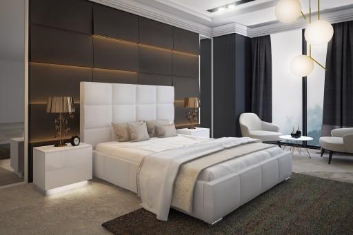 łóżko Tapicerowane Sara Wysoki Zagłówek 160x200cm