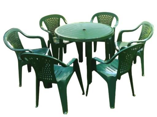 Mocny Plastikowy Zestaw 6 1 Krzesla Stol Ogrodowy 7225830343 Allegro Pl