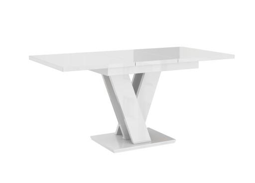 Stół ROZKŁADANY 120-160 Biały Połysk 7dni + GRATIS