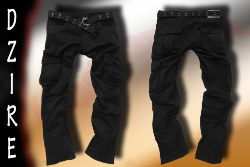DZIRE #355 spodnie, bojówki, czarne, mocne - r.37*