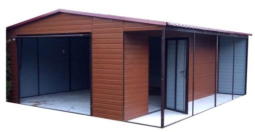 Garaż Blaszany Garaże Blaszane 4x61m Wiata 7709607508 Allegropl