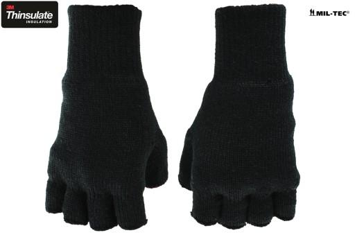 6aacf2fed2783 Rękawice Rękawiczki ZIMOWE Bez Palców 3M - CZARNE Płeć Produkt męski