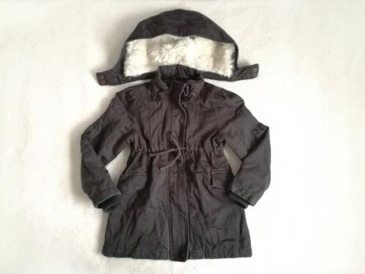 H&M kurtka parka przejściówka 5-6lat 116
