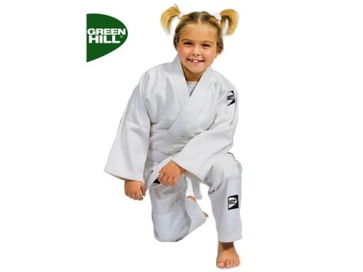 Kimono judoga biała GREEN HILL KIDS - 140cm + pas